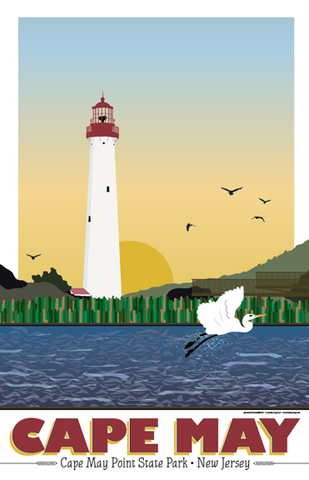 Cape May Point State Park Illustration