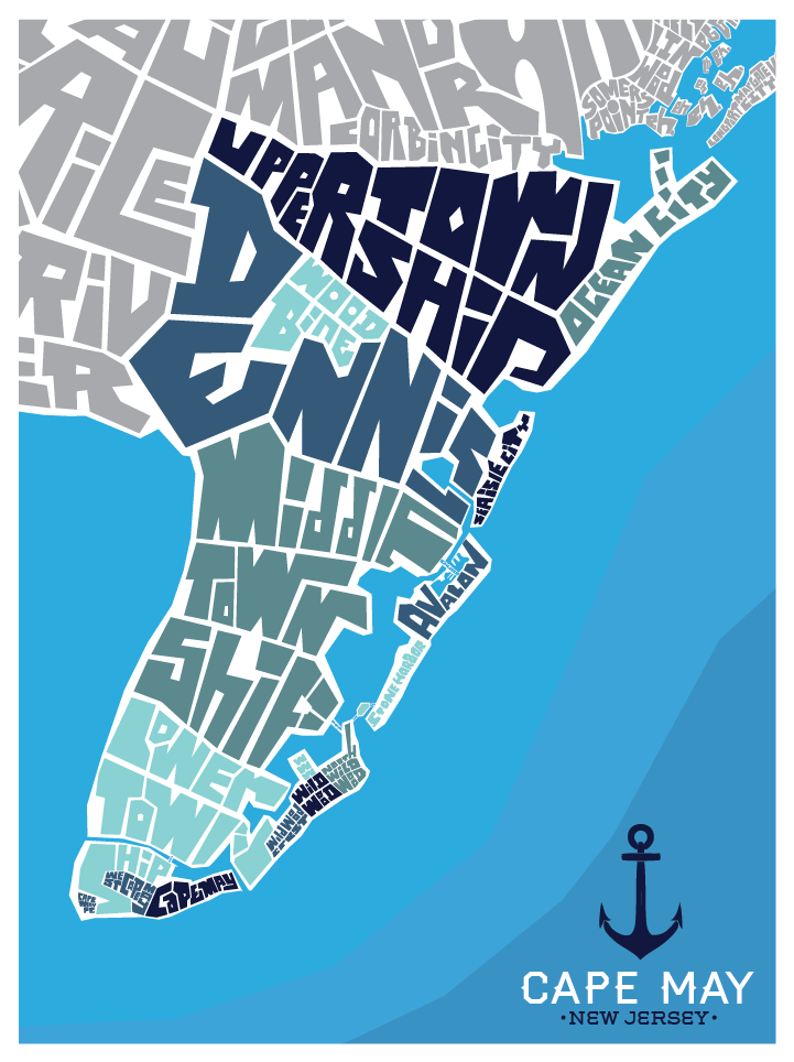 Cape May County Neighborhood Type Map
