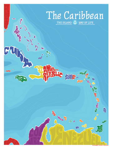Caribbean Island Type Map