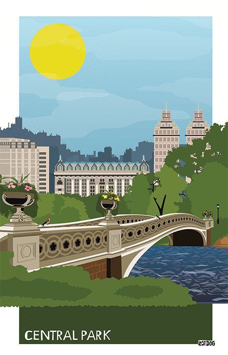 Central Park Illustration