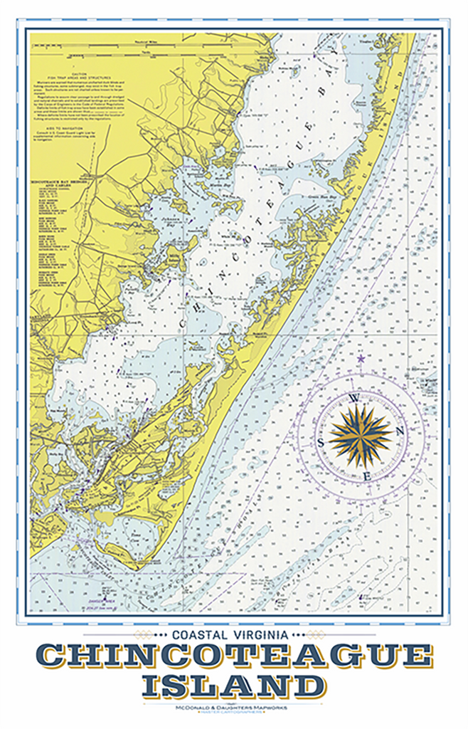 Chincoteague Island Nautical Chart