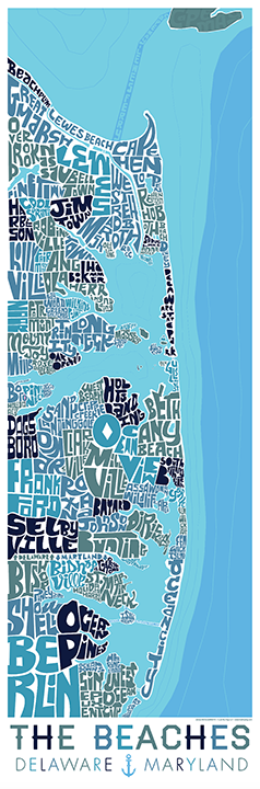 Delaware and Maryland Beaches Type Map – I Lost My Dog on