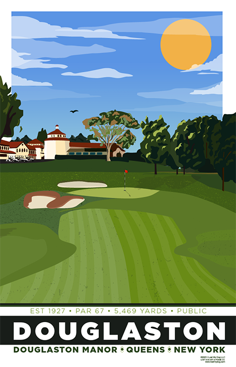 Douglaston Manor Golf Course Illustration
