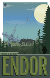 Endor: Star Wars Travel Poster