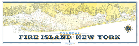 Fire Island Nautical Chart Remixed Map