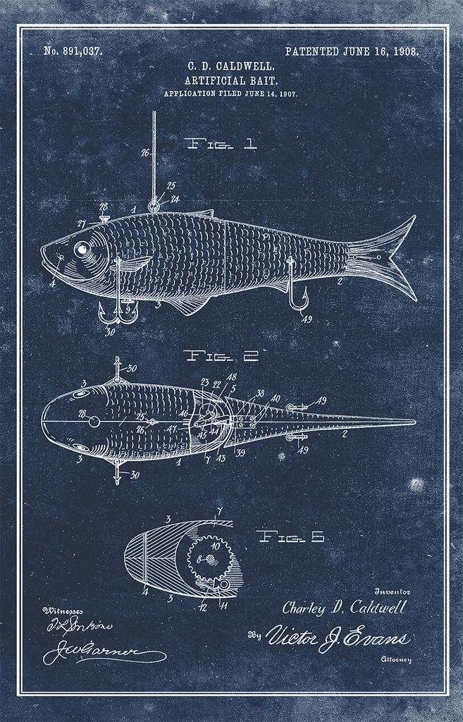 Fish Lure-Patent Invention Art