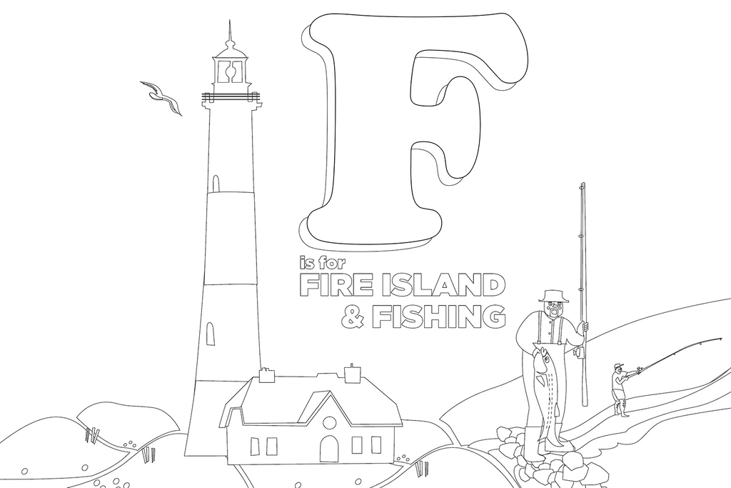 Coloring Pages: ABCs of Long Island