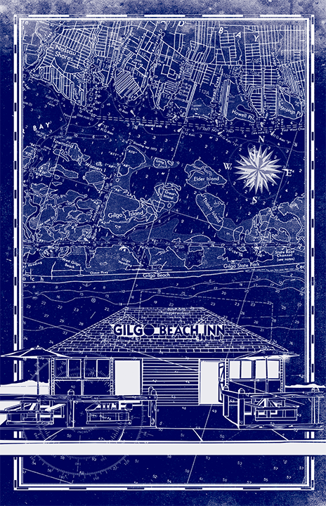 Gilgo Beach Inn Nautical Chart