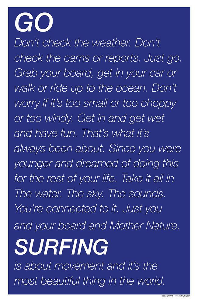 GO SURFING Inspiration Poster