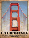 Golden Gate Bridge Vintage Travel Poster