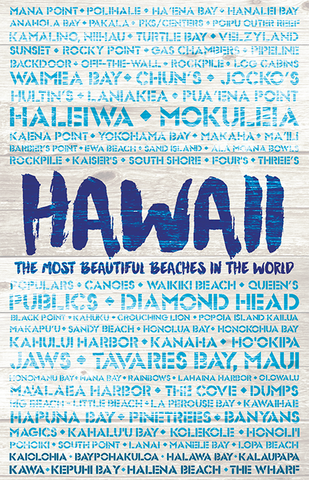 Hawaii Wooden Plank Replica Signs