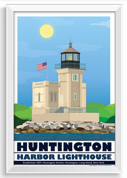 Huntington Harbor Lighthouse Illustration