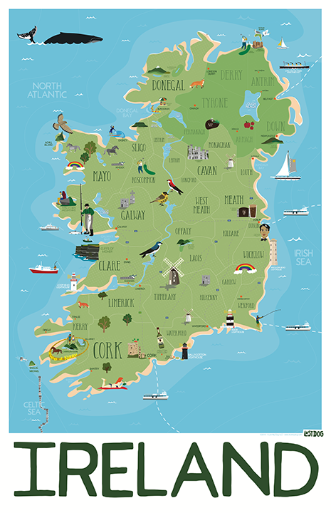 Ireland Illustrated Map