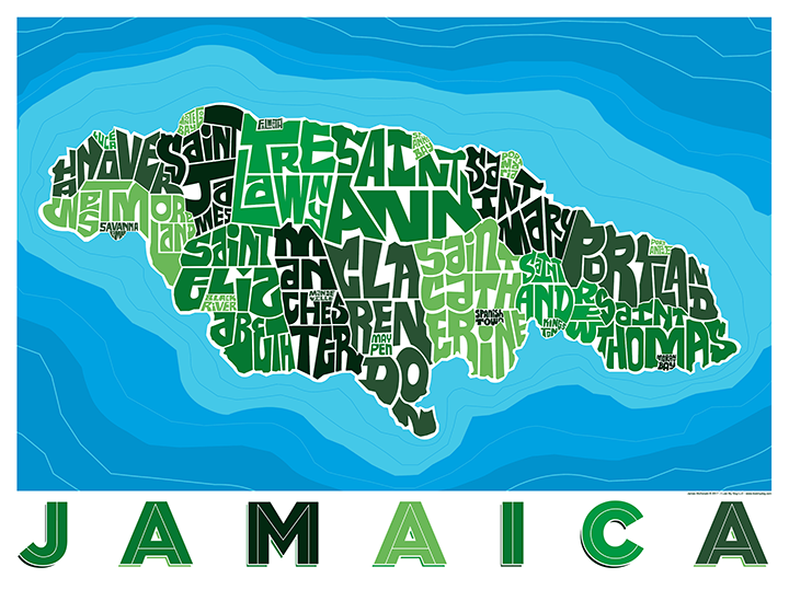 Jamaica Type Map