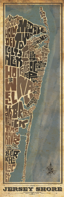 Jersey Shore NORTH Type Map