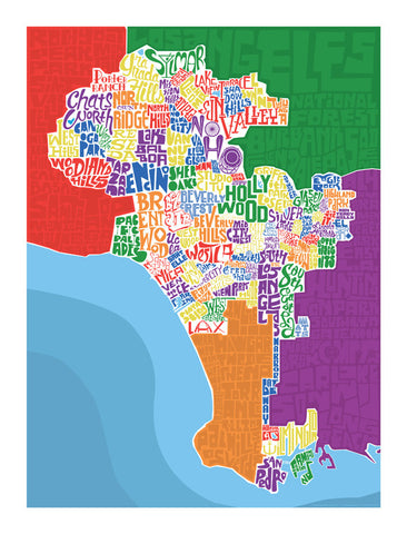 los angeles neighborhood type map i lost my dog
