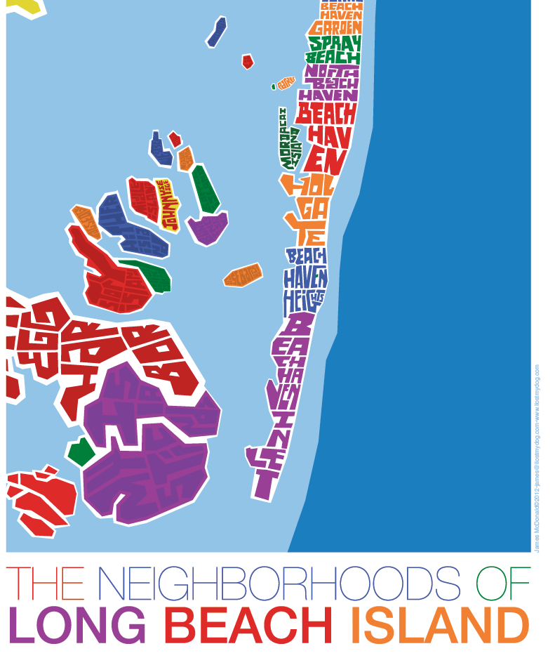 Long Beach Island New Jersey: Long Beach Island New Jersey Type Map