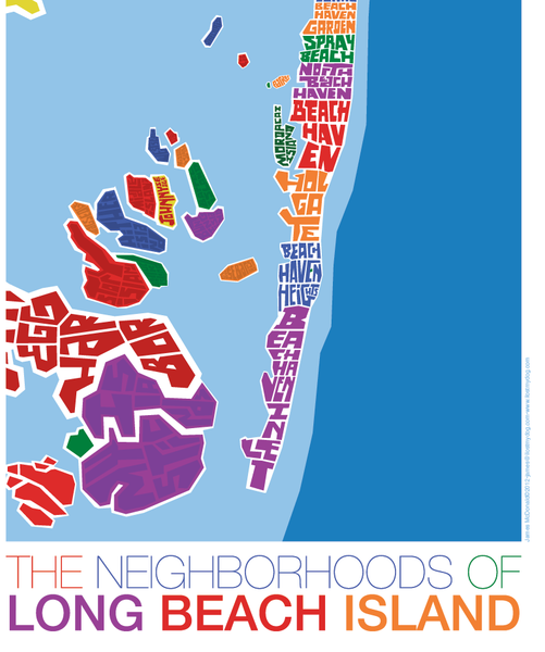Lbi Nj: Long Beach Island New Jersey Type Map