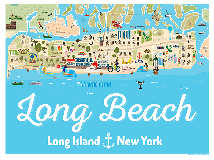 Long Beach Illustrated Map