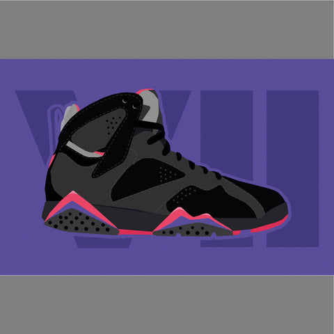 Purple Air Jordan Sneaker