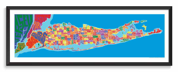Long Island Towns Typography Map I Lost My Dog