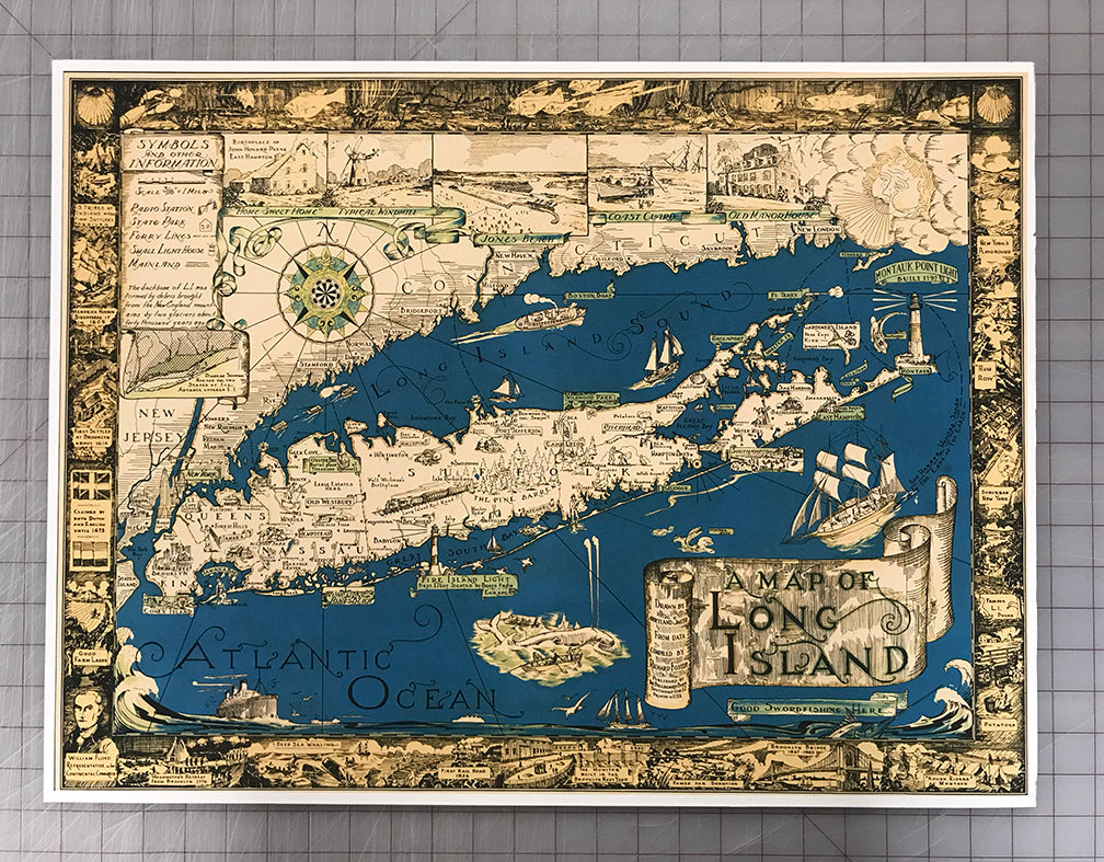 Puzzle: Long Island Vintage Courtland Map