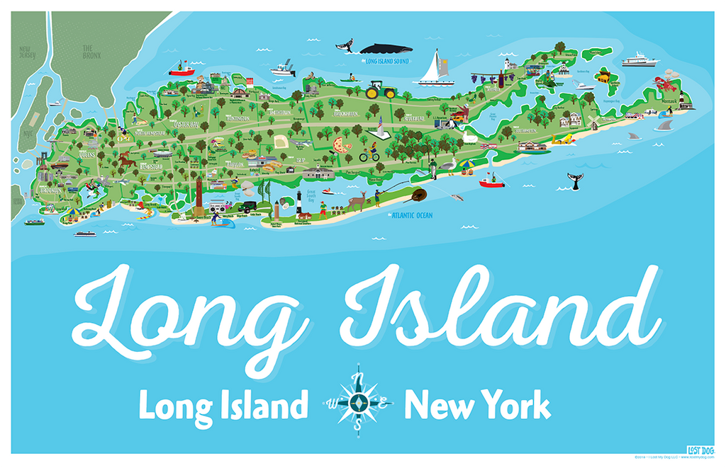 Long Island Illustrated Map