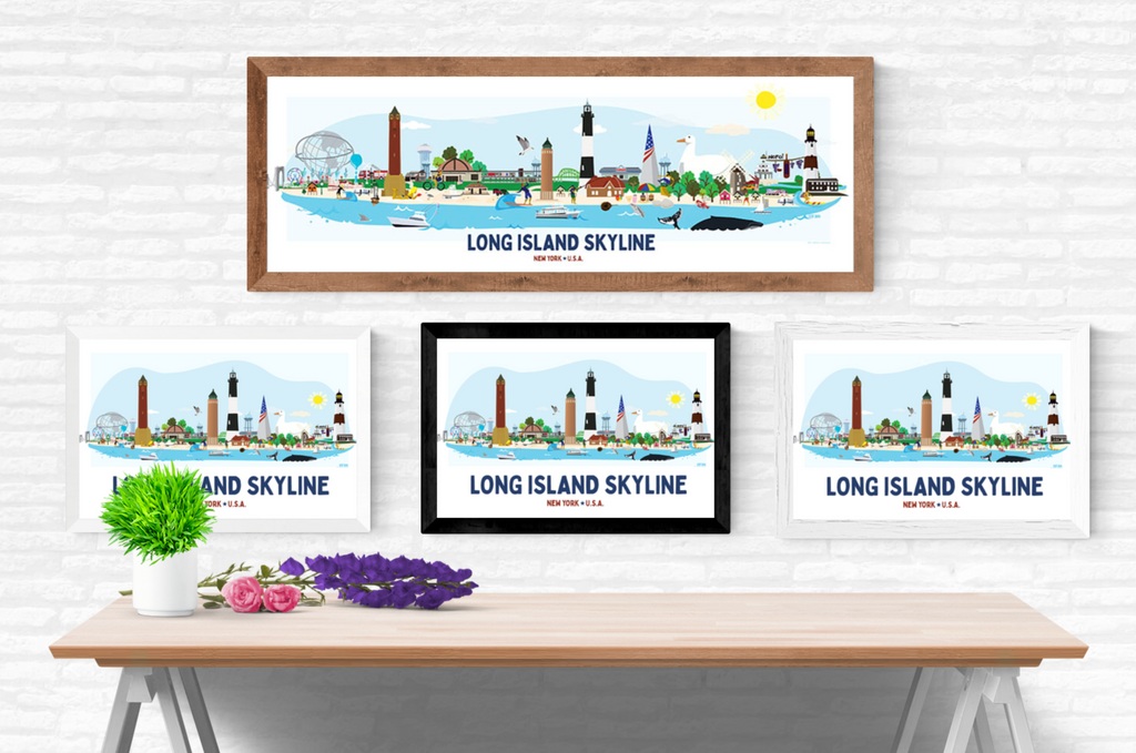 Long Beach Skyline Illustration