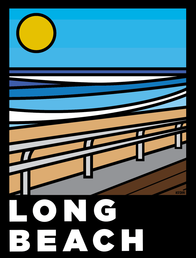Long Beach Boardwalk: Thick Line Series