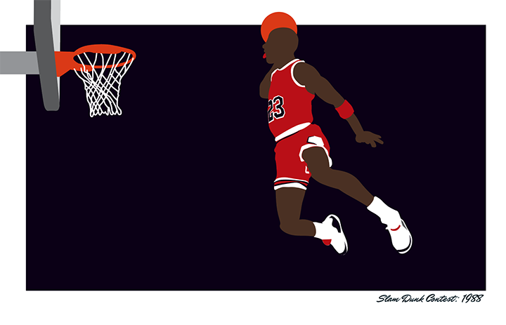 Air Jordan 88 Slam Dunk Contest illustration