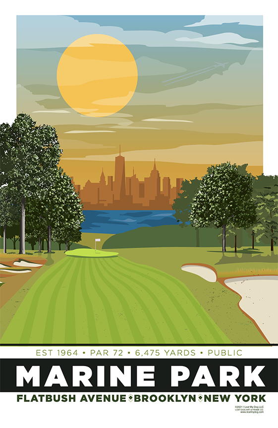 Marine Park Golf Course Illustration