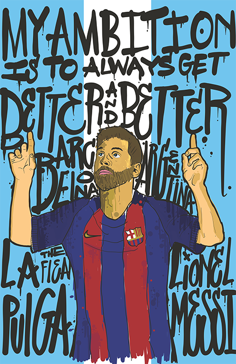 Leo Messi Paint Splatter Illustration