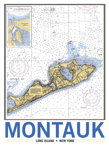 Montauk Vintage Remixed Map