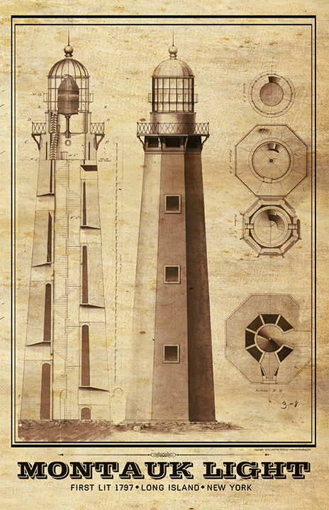 Montauk Lighthouse Architectural Plans