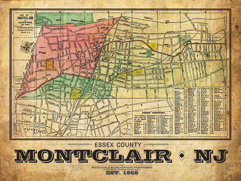 Montclair Vintage Remixed Map