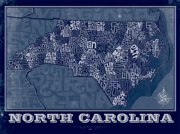 North Carolina State Type Map