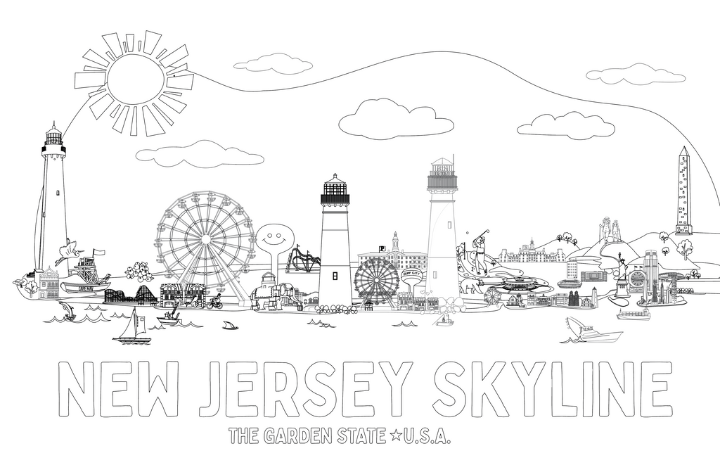 Coloring Pages: New Jersey