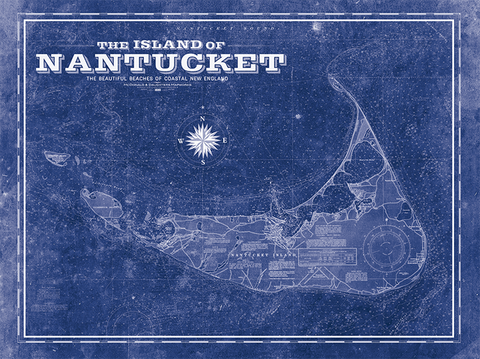 Nantucket Vintage Map