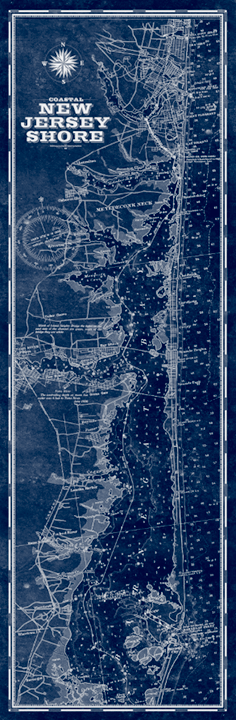 Jersey Shore, North Vintage Remixed Map