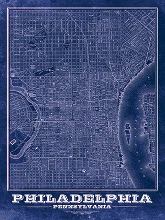 Philadelphia Vintage Map