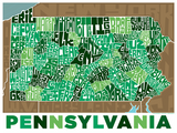 Pennsylvania State Type Map