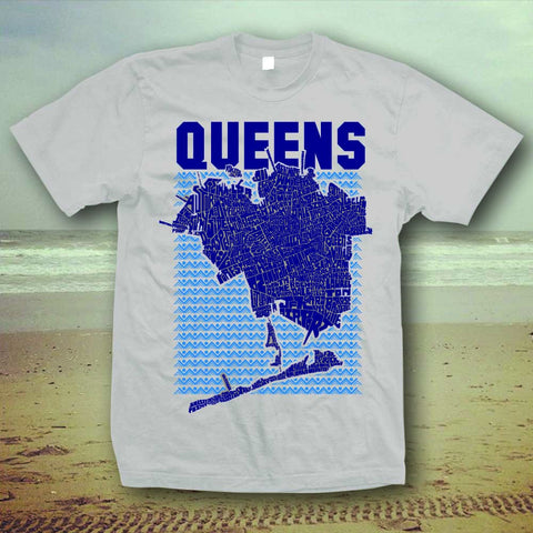 Queens Type Map T-Shirt