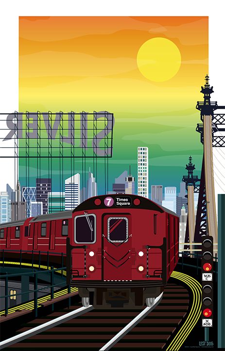 Queens, 7 Train Illustration