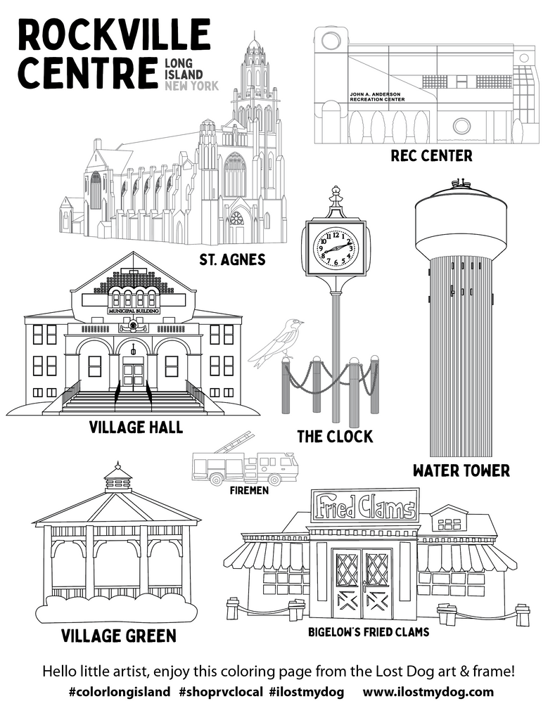 Coloring Pages: Rockville Centre