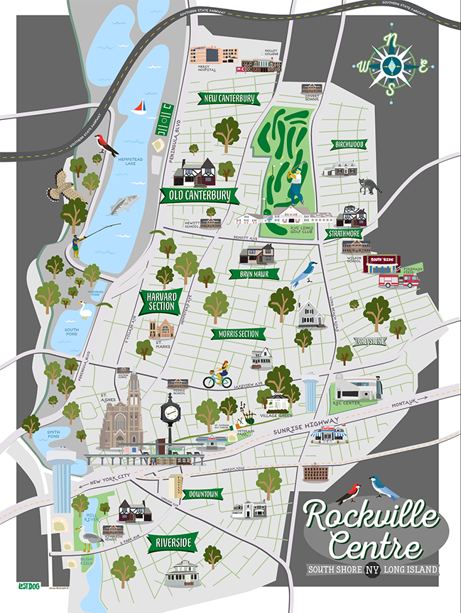 Rockville Centre Illustrated Map