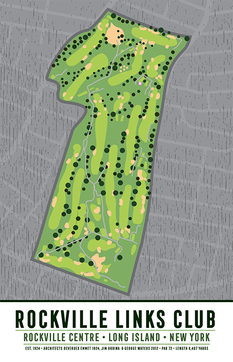 Rockville Links Club Golf Course Map