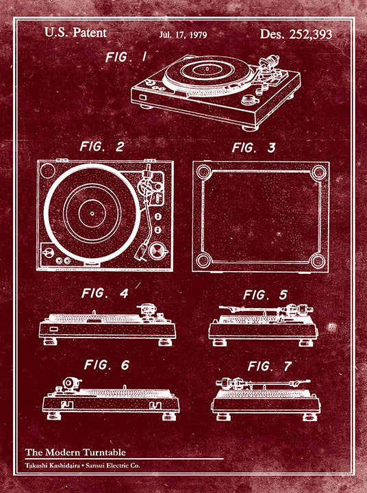Modern Turntable-Patent Invention Art