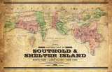 Northfork - Southold and Shelter Island Vintage Map