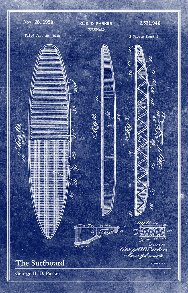 Surfboard-Patent Invention Art