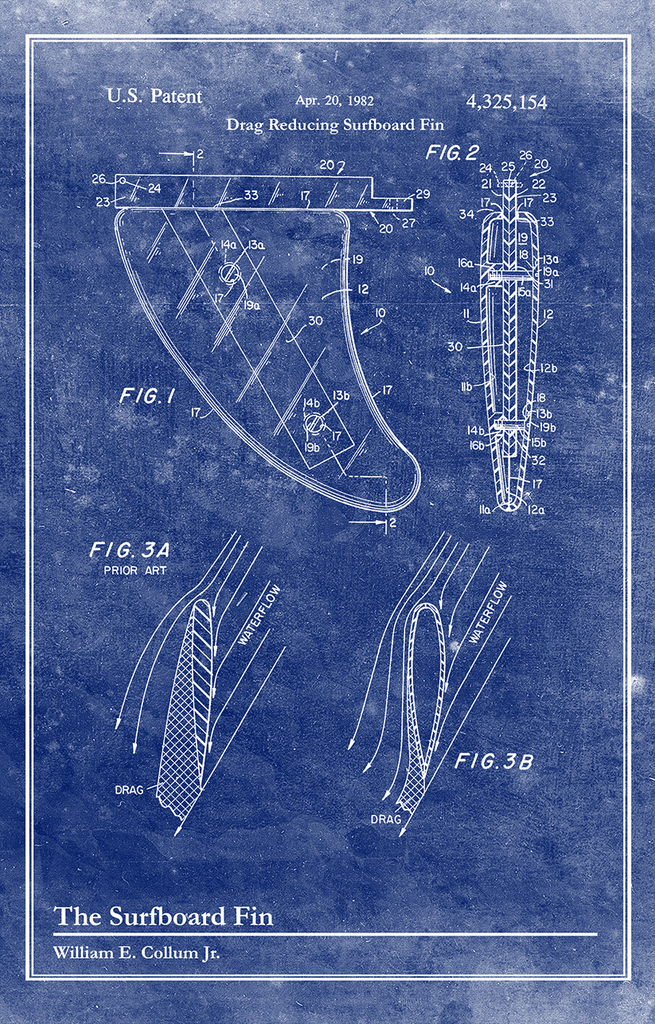 Surf Fin-Patent Invention Art